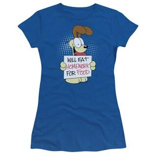 Garfield/Will Eat Homework Junior Sheer in Royal