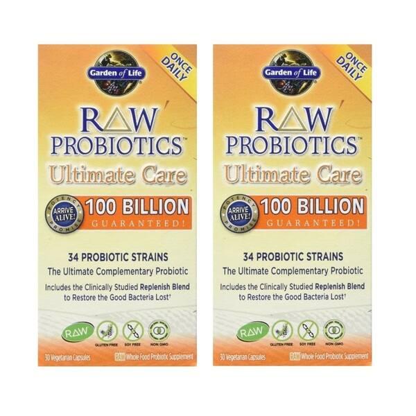 Garden Of Life 30 Veggie Capsules Raw Probiotics Ultimate Care Overstock 11940147