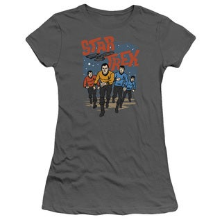 Star Trek/Run Forward Junior Sheer in Charcoal in Charcoal