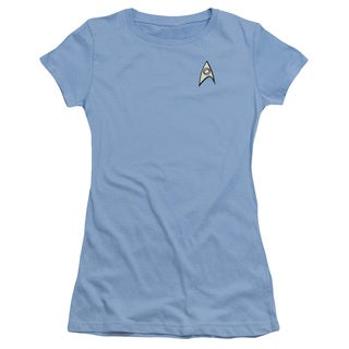 Star Trek/Science Uniform Junior Sheer in Carolina Blue
