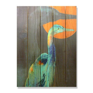 Gizaun Art Dean Crouser 'Great Blue' Full-color Cedar 28-inch x 36-inch Indoor/Outdoor Wall Art