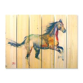 'Free Spirit' Full Color Cedar Wall Art