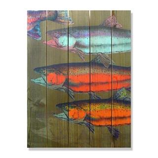 Dean Crouser School's In 28-inch x 36-inch Indoor/Outdoor Full Color Cedar Wall Art