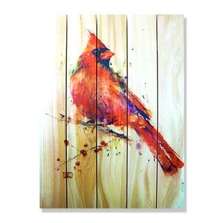 Dean Crouser Red Cardinal Indoor/Outdoor Full Color Cedar Wall Art