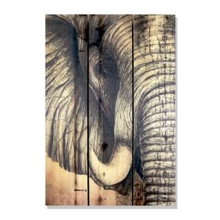 AfricanElephant' Cedar 16-inch x 24-inch Indoor/Outdoor Wall Art