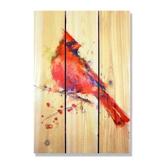 Dean Crouser Red Cardinal Full Color Cedar 16-inch x 24-inch Indoor/Outdoor Wall Art