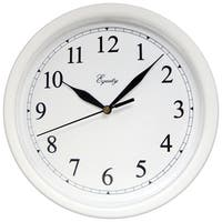 """Equity 25201 10"""" White Plastic Wall Clock"""