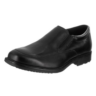 Men's Rockport Essential Details Waterproof Slip On Black Leather