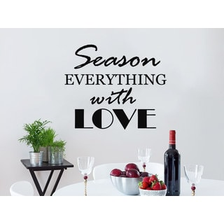 Quote Season EVERYTHING with LOVE Wall Art Sticker Decal