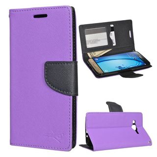 Insten Leather Case Cover with Stand/ Wallet Flap Pouch/ Photo Display For Samsung Galaxy Amp Prime/ J3 (2016)