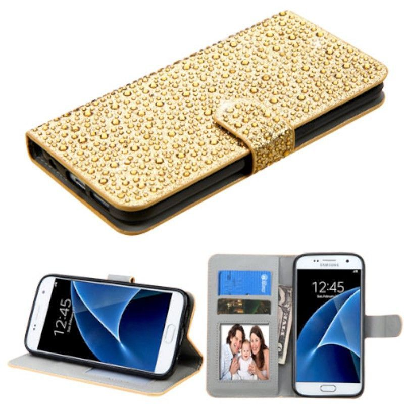 Insten Leather Rhinestone Bling Case Cover with Stand/ Wa...