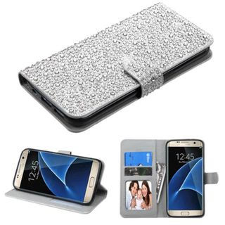 Insten Leather Rhinestone Bling Case Cover with Stand/ Wallet Flap Pouch/ Photo Display For Samsung Galaxy S7 Edge