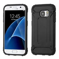 Insten Hard PC/ Silicone Dual Layer Hybrid Rubberized Matte Case Cover For Samsung Galaxy S7