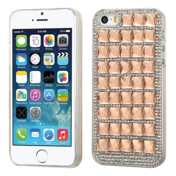 Insten Hard Snap-on Diamond Bling Case Cover For Apple iPhone 5/ 5S/ SE