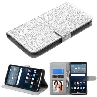 Insten Leather Diamond Bling Case Cover with Stand/ Wallet Flap Pouch/ Photo Display For LG G Stylo