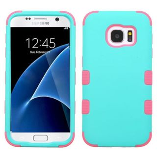 Insten Tuff Hard PC/ Silicone Dual Layer Hybrid Rubberized Matte Case Cover For Samsung Galaxy S7