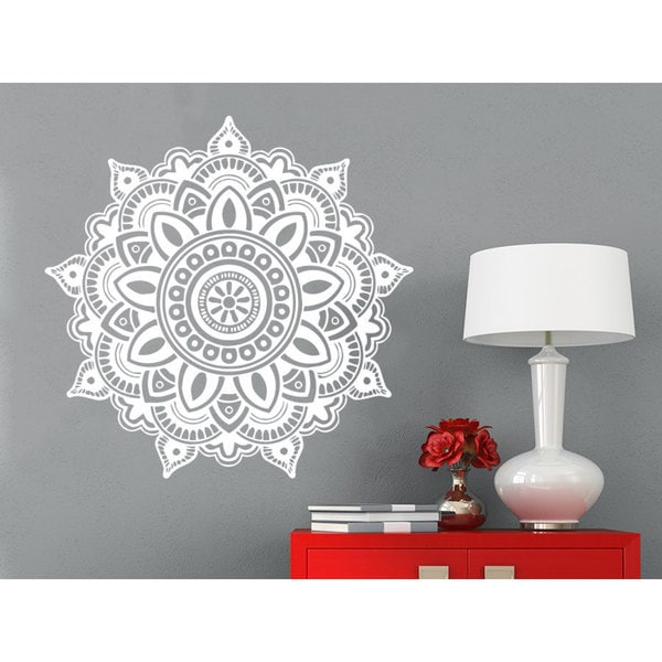 Lotus Flower Wall Art mandala namaste lotus flower wall art sticker decal white - free