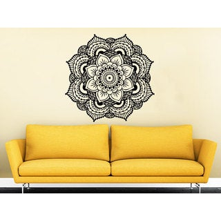 Mandala Yoga Studio Wall Art Sticker Decal