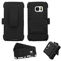 Insten Hard PC/ Silicone Dual Layer Hybrid Rubberized Matte Case Cover with Stand/ Holster For Samsung Galaxy S7