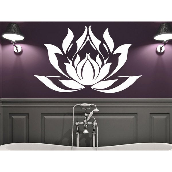 Shop Namaste Words Lotus Flower Wall Art Sticker Decal White Free