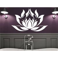Namaste Words Lotus Flower Wall Art Sticker Decal White