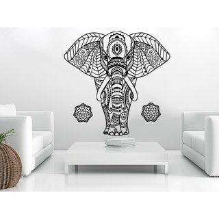 Elephant Buddha Ganesh Om Wall Art Sticker Decal