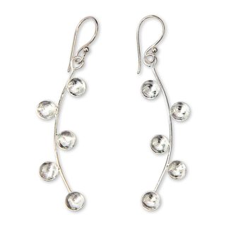 Handmade Sterling Silver 'Drizzle' Earrings (Indonesia)