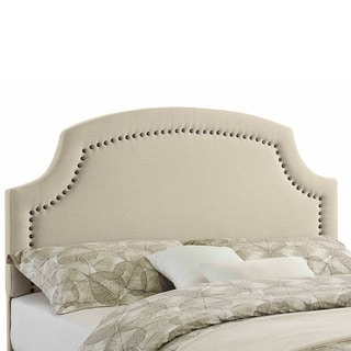 Linon Courtly Beige Linen Headboard