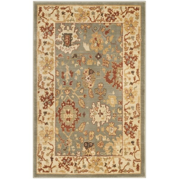 Safavieh Heirloom Blue/ Cream Rug - 2'6 x 4'