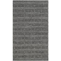 Safavieh Hand-Woven Montauk Ivory/ Dark Grey Cotton Rug - 2'3 x 3'9
