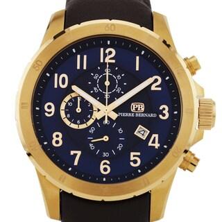 Pierre Bernard Macallan Men's Genuine Leather Miyota OS10 Movement Sport/ Luxury Chronograph Watch