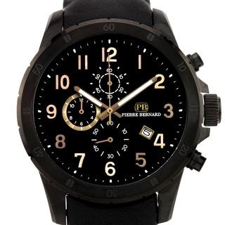 Pierre Bernard Macallan Men's Genuine Leather Miyota OS10 Movement Sport/Luxury Chronograph Watch