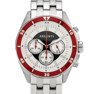 Argenti Acropolis Men's Multi-link Bracelet Miyota JS20 Movement Vibrant Colored Bezel Sport Chronograph Watch