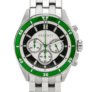 Argenti Acropolis Men's Multi-link Bracelet Miyota JS20 Movement Vibrant Colored Bezel Sport Chronograph Watch