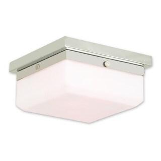 Livex Lighting Allure 2-light Polished Nickel Flush Mount