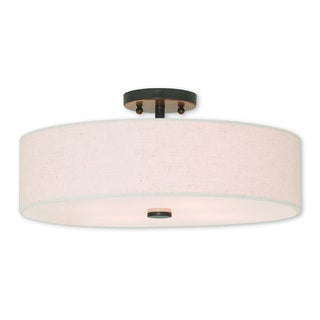 Livex Lighting Meridian English Bronze 4-light Semi-flush Mount