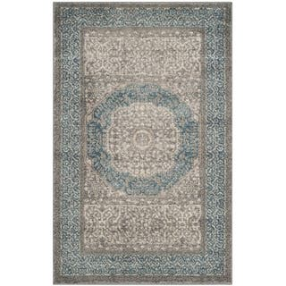 Safavieh Sofia Vintage Medallion Light Grey/ Blue Distressed Rug (2' x 3')|https://ak1.ostkcdn.com/images/products/11948518/P18835523.jpg?impolicy=medium