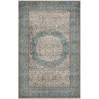 Safavieh Sofia Vintage Medallion Light Grey/ Blue Distressed Rug (2' x 3')