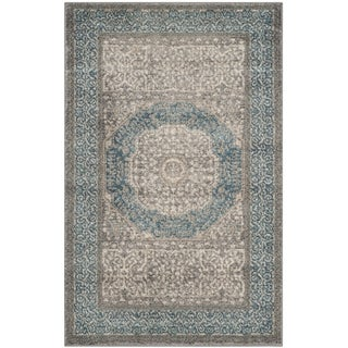 Safavieh Sofia Vintage Medallion Light Grey/ Blue Rug - 2' X 3'