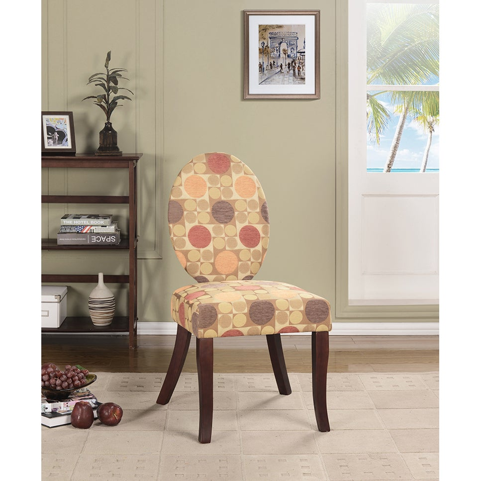 K&B AC7231 Multicolored Fabric and Wood Accent Chair (AC7...
