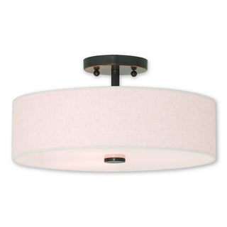 Livex Lighting Meridian English Bronze 3-light Semi Flush Mount
