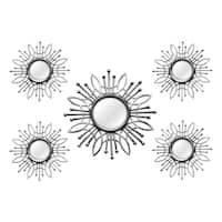 The Curated Nomad Lotta Silver Metal 5-piece Wall Mirror Set
