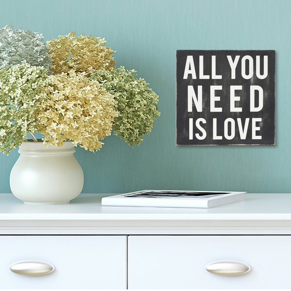 Shop Stratton Home Decor \'All You Need Is Love\' Wall Art - Free ...
