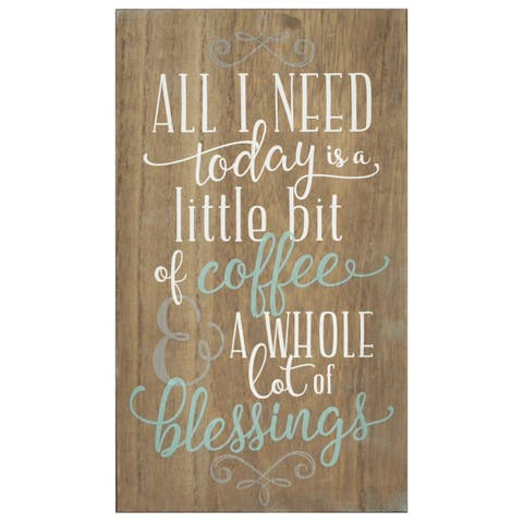 Stratton Home Decor 'Coffee and Blessings' Wall Art