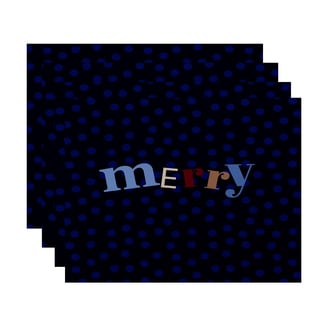 18 x 14 inch Merry Dot Word Print Placemat (Set of 4)