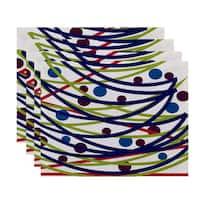 18 x 14-inch Doodle Decorations Geometric Print Placemat (Set of 4)