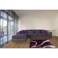 LYKE Home Lilac Polyester High-density Lush Pile Shag Area Rug (8' x 11')