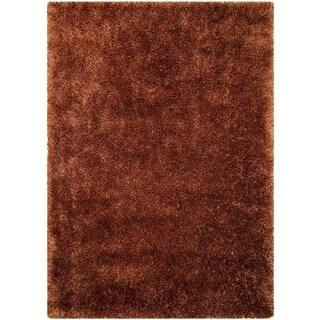 LYKE Home Rust Polypropylene Shag Rug (8' x 11')