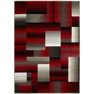 LYKE Home Red Olefin Machine-made Area Rug (8' x10')