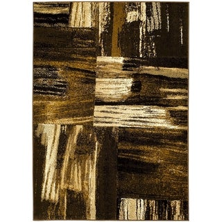 Lyke Home Chocolate/Camel Olefin Area Rug (8' x 10')